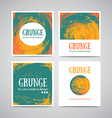 Set of watercolor business cards template and vector image