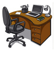 office place vector image vector image
