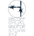 very detailed barbed wire alphabet vector image vector image