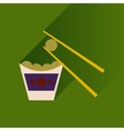 Flat with shadow Icon Chinese cheese balls vector image