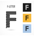 Creative F - letter icon abstract logo design vector image