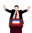 Politician greetings vector image vector image