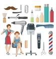 Beauty Salon Decorative Icons Set vector image