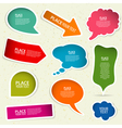 Speech Bubbles vector image vector image
