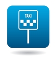 Taxi car sign icon in flat style vector image
