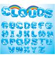 Alphabet cloud letters vector image
