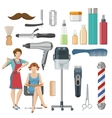 Beauty Salon Decorative Icons Set vector image