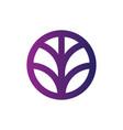 circle palm sign logo vector image