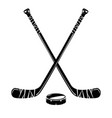 isolated hockey stick vector image