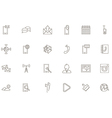 Mobile services black icons set vector image