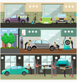 set of car service auto repair concept vector image