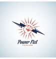 Power Fist Abstract Emblem Symbol or Logo vector image