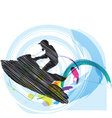 Jetski vector image