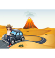 A young teenager on a journey vector image vector image