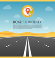 road to infinity highway road in the desert vector image