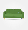 broken old couch with holes and spring vector image