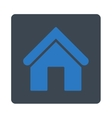 Home flat smooth blue colors rounded button vector image