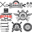 car service labels set vector image