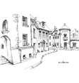 City street sketch vector image vector image