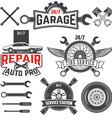 car service labels set vector image