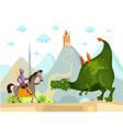 dragon and knight vector image