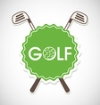 golf cup design vector image
