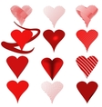 Heart red vector image