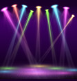 modern interior of nightclub with empty show stage vector image