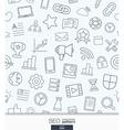 SEO wallpaper Black and white marketing seamless vector image