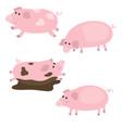 set of cute pigs set of cute pigs vector image