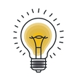 Isolated light bulb draw design vector image