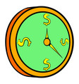 clock icon cartoon vector image