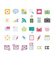 Modern web icons vector image