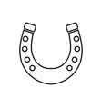 horseshoe black color icon vector image