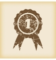 Grungy first place icon vector image