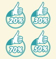popust thumbs up1 vector image