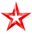 Shiny RED star 03 vector image vector image