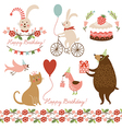 and graphic elements for greeting ca vector image