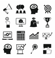Business banking and office icons set vector image