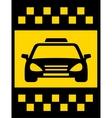 cab transport background vector image