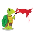 Cartoon Character Funny Turtle vector image