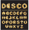 Gold disco ball letters vector image