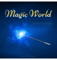 Magic wand mystery background vector image
