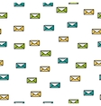 Seamless pattern with line envelopes vector image