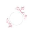 Spring Blossom Flower Round Frame vector image vector image