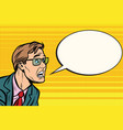 the man in glasses face panic vector image