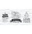 Pizza logo Paper vector image