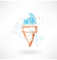 Freeze ice-cream grunge icon vector image