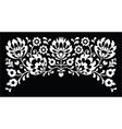 Polish floral folk white embroidery pattern vector image vector image