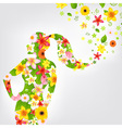 Woman And Flower vector image vector image